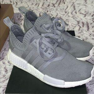 RARE Adidas NMD R1 Primeknit (grey) | Women's 8.5